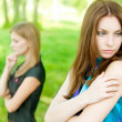 Quarrel two friends — Stock Photo #4944453