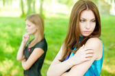 Quarrel two friends — Stock Photo