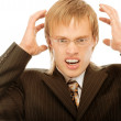 Businessman frustrated with his work - Foto Stock