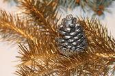 Silver pine cone — Stock Photo