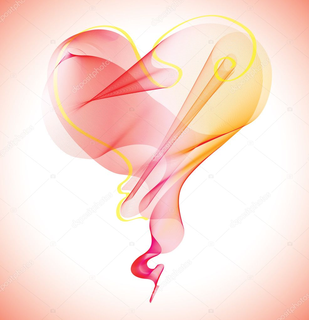 Valentines abstract heart  Stock Vector #4869228