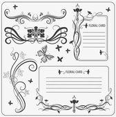 Conjunto de vectores: elementos de la decoración caligráfica — Vector de stock