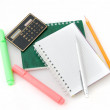 The green pen and notebook — Stock Photo #4456675