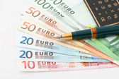 Fanned Euro notes — Stock Photo