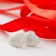 Silver hearts — Stock Photo #4789573