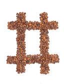 Alcance de los granos de café — Foto de Stock