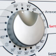 Washing machine program dial (russian) close-up — Stock Photo