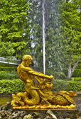 Fountain in Petrodvorets — Stock Photo