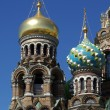 Domes of Church of the Savior on the Spilt Blood — Stock Photo #4128090
