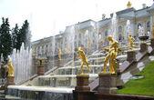 Fountain in Petrodvorets — Stock Photo