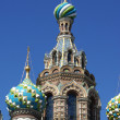 Domes of Church of the Savior on the Spilt Blood — Stock Photo #4208431