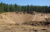 Sandstranden dagbrott gruva — Stockfoto