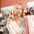 The beautiful customer - Stock Photo