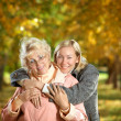 Embraces of mum and the daughter — Stock Photo
