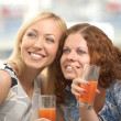 Merry girl-friends — Stock Photo