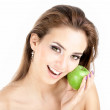 Beauty with an apple — Stock Photo #3986907