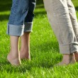Barefoot couple - Stock Photo
