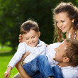 Cheerful family — Stock Photo #3997103