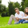 Stock Photo: Family from three persons