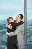 Friendship and pleasure on work — Stock Photo