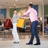 Dependence on shopping — Stock Photo