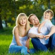Family from three persons — Stock Photo