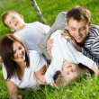 Cheerful family - Foto Stock