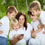 Children with mum — Stock Photo