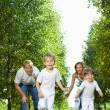 Stock Photo: Running children