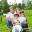 Big young family - Stock Photo