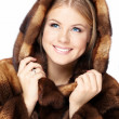 Beauty in a hood — Stock Photo