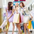 Girl-friends in shop — Stock Photo