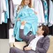 Spouses in shop — Stock Photo