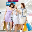 Girl-friends on shopping — Stock Photo #4019520