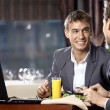 Business supper — Stock Photo