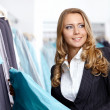 The charming girl in shop — Stock Photo