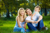 Family from three persons — Stockfoto