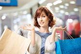 Shopaholic portresi — Stok fotoğraf