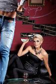 Striptease for money — Stock Photo