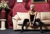 La chica glamour — Foto de Stock