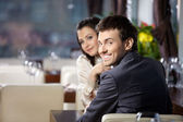 Appointment at restaurant — Stock Photo