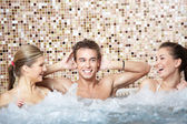 In a jacuzzi — Stock Photo