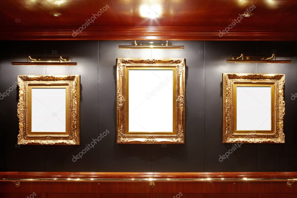 Gallery with blank frames — Stock fotografie #4016565