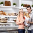 In a baker's shop — Stock Photo