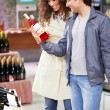 At a wine choice — Stock Photo