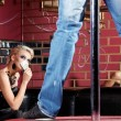 Striptease for the woman — Stock Photo
