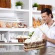 The man with cakes - Stock Photo