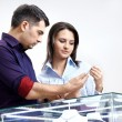 In jeweller shop - Stock Photo