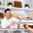 The attractive customer — Stock Photo