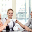 Friends in cafe — Stock Photo #4022551
